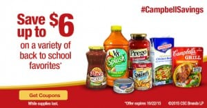 Campbell's Printable Coupons for V8, Prego, Swanson and More