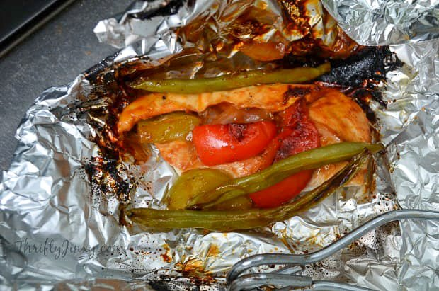 Chicken and Vegetable Foil packet
