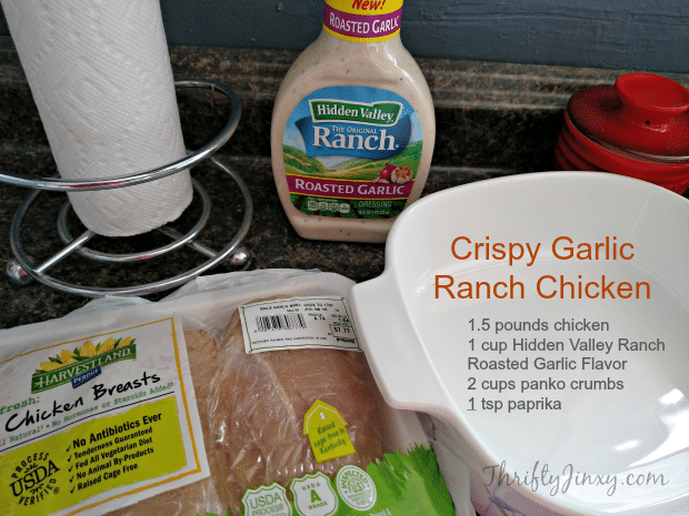 Crispy Garlic Ranch Chicken Recipe Ingredients