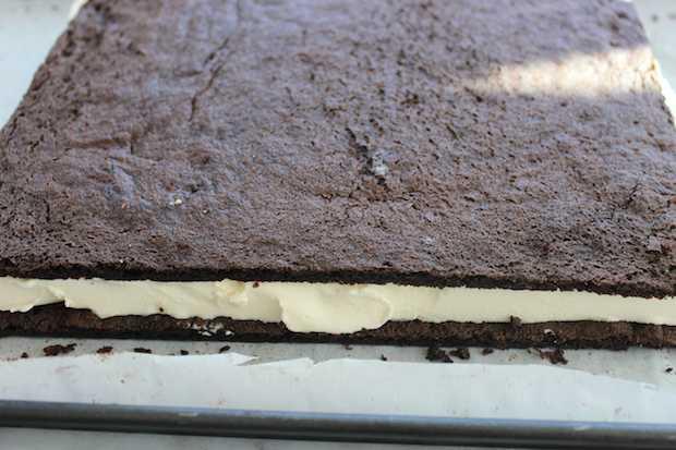 Homemade Ice Cream Sandwiches Recipe Before Cutting