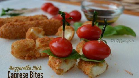 Mozzarella Stick Caprese Bites Recipe