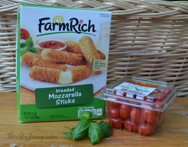 Mozzarella Stick Caprese Bites Recipe Ingredients