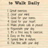 10 Reasons to Walk Daily