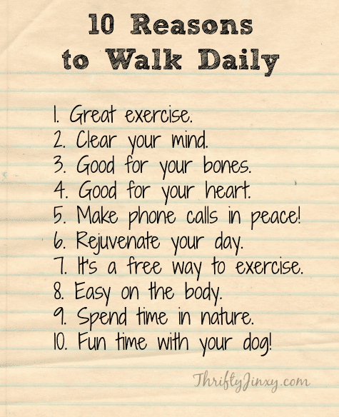 Reasons to Walk Daily
