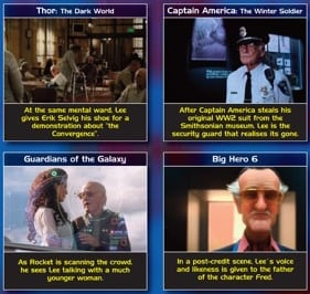 Stan Lee Marvel Cameos – The Infographic