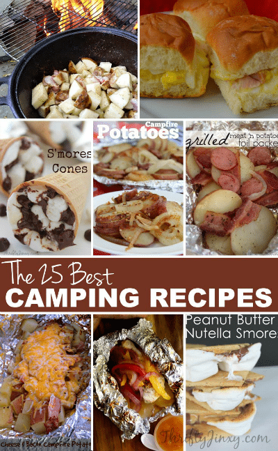 25 Best Camping Recipes - This collection of the 25 BEST camping recipes has everything from breakfast to lunch to dinner to late night around-the-campfire snacks.