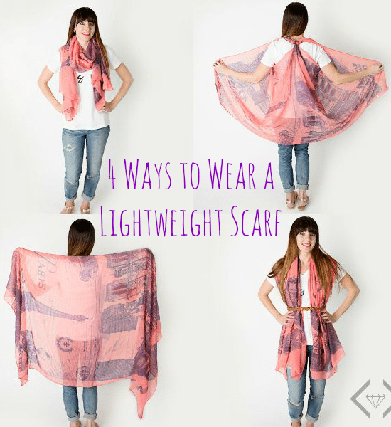 4 ways to wear a lightweight scarf lightweight scarves