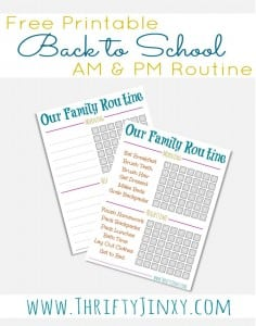 Back to School Essentials: Free Daily Routine Printable!