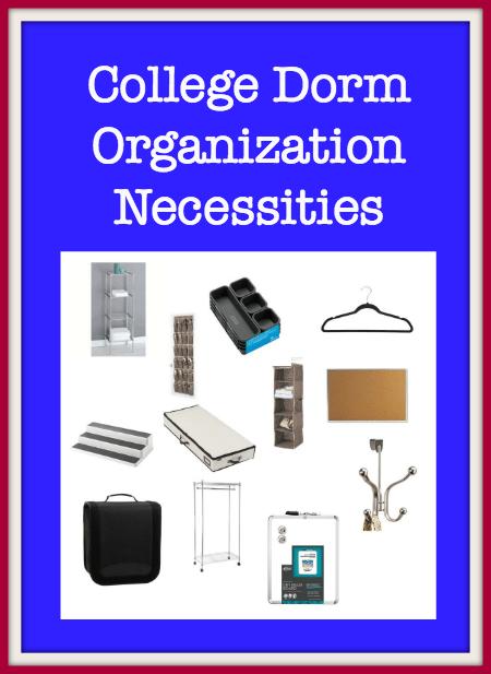 College Dorm OrganizationNecessities