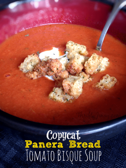 Copycat Panera Bread Tomato Bisque Soup Recipe