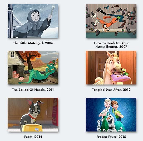 Disney Animated Short Film collection