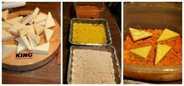 Fried Cheese Stuffed Doritos Recipe Process