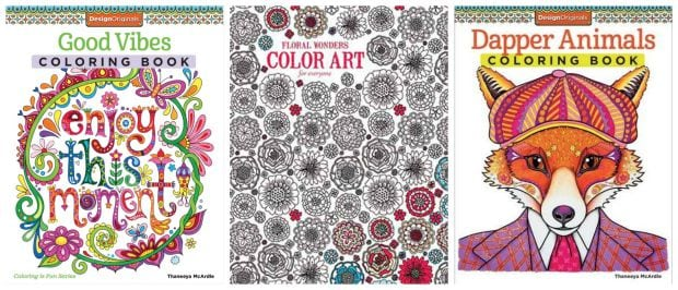 Leisure Arts Adult Coloring Books