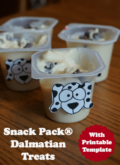 Snack Pack® Dalmatian Treats with Printable Template