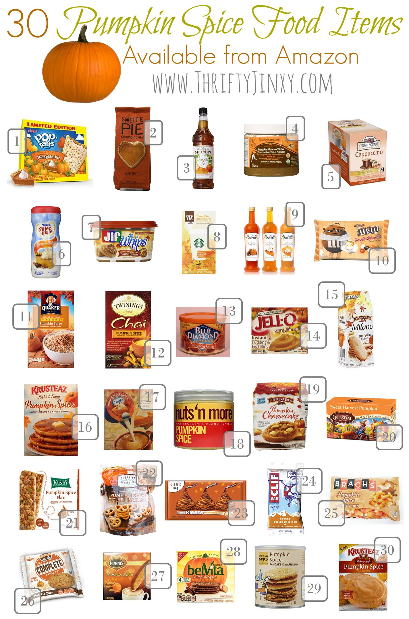 30 Pumpkin Spice Food Items Perfect for Fall