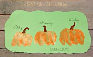 Easy Fist Bump-kins Pumpkin Craft – Create a Memory!