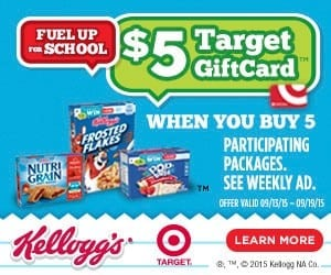 Get a $5 Target Gift Card When You Buy 5 Select Kellogg's Products