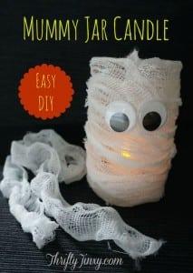Mummy Jar Candle DIY – A Fun Halloween Craft