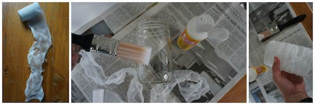 Mummy Jar Candle DIY Process