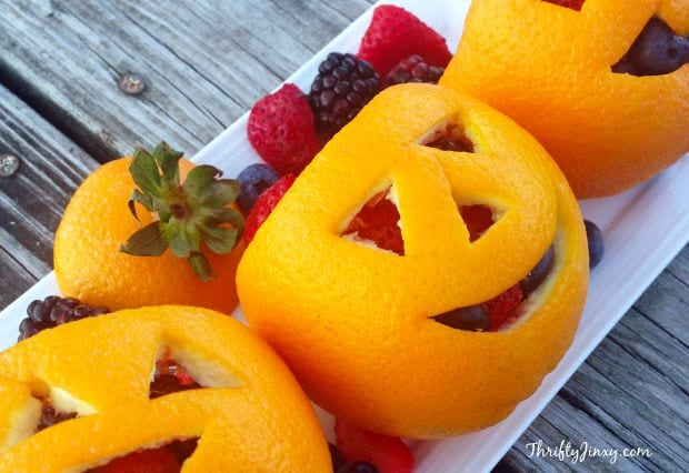 Orange Fruit Jack-O-Lantern – Directions for a Fun, Healthy Halloween