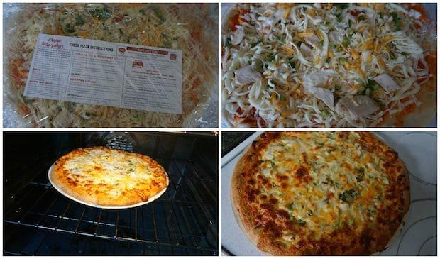 Papa Murphys Buffalo Chicken Pizza Preparation