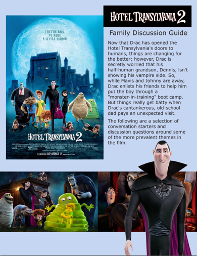 Hotel Transylvania 2 Family Discussion Guide + Reader Giveaway