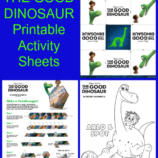 The Good Dinosaur Printable Activity Sheets #GoodDinoEvent