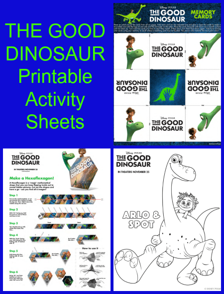 The Good Dinosaur Printable Activity Sheets
