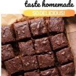 make brownies taste homemade