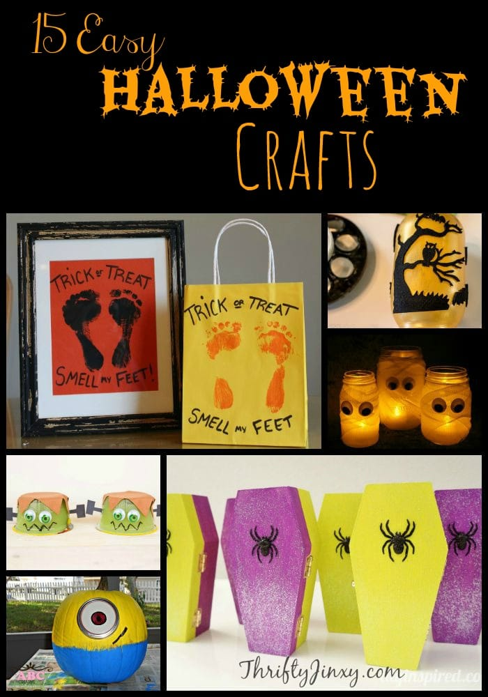 These 15 Easy Halloween Crafts use simple supplies you can pick up at your local craft store. Decorate your home and add a little fun to the fall season.