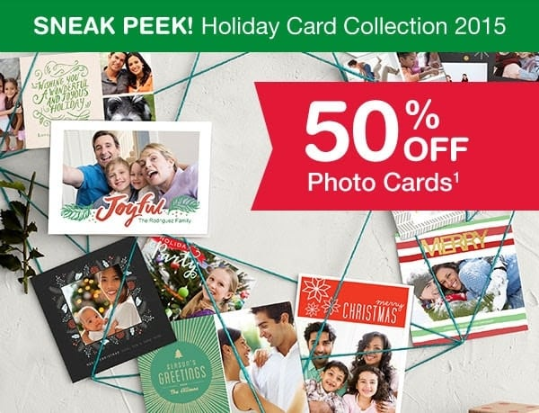 Walgreens has a great holiday freebie available right now through their Facebook page: 20 FREE 5 x 7 flat cards! Pick up in-store for free shipping!
