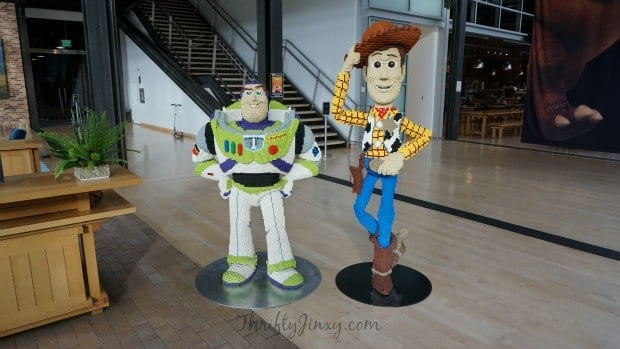 Buzz Lightyear and Woody LEGO at Pixar Animation Studios