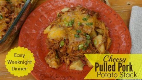 Cheesy Pulled Pork Potato Stack
