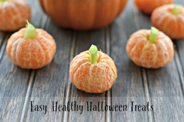 easy healthy halloween treats clementine pumpkins and more - Fast And Easy Halloween Treats
