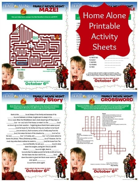 Home Alone Printable Activity Sheets