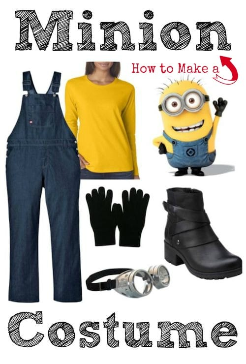 How to Make a DIY Minion Costume  sc 1 st  Thrifty Jinxy & DIY Minion Costume for Grown-Ups (But Works for Kids Too!) - Thrifty ...