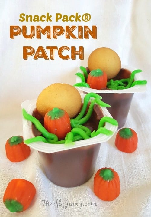 Pumpkin Patch Snack Pack Pudding Treats for Halloween