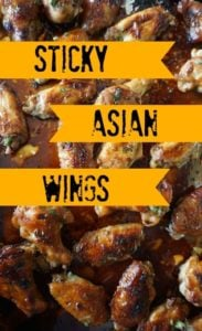 Sticky Asian Wings Recipe with Honey