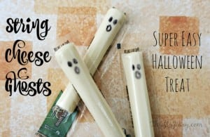 String Cheese Ghosts – Super Easy Halloween Treat