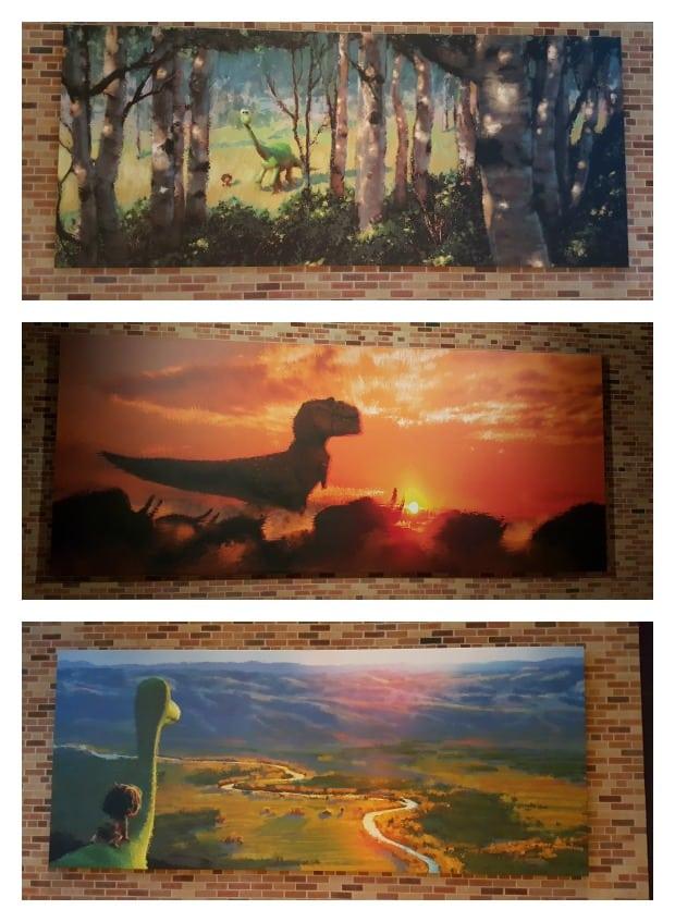 The Good Dinosaur Paintings