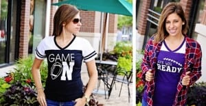Football Jersey Tees Only $14.99! Game On, Are You Ready? and It's Football Ya'll