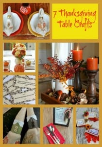 7 Thanksgiving Table Crafts