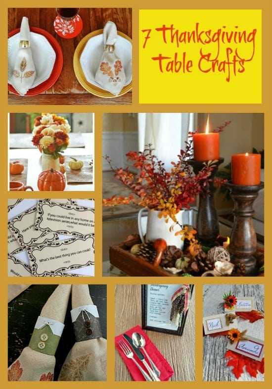 These 7 Thanksgiving Table Crafts will add a gorgeous touch to any Thanksgiving Table!