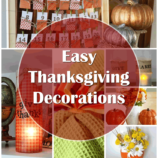 Easy DIY Thanksgiving Decorations