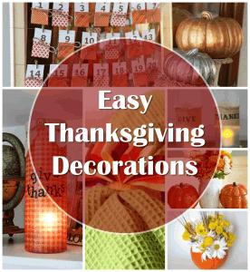 Easy DIY Thanksgiving Decorations