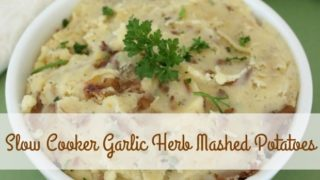 Slow Cooker Garlic Herb Mashed Potatoes Recipe