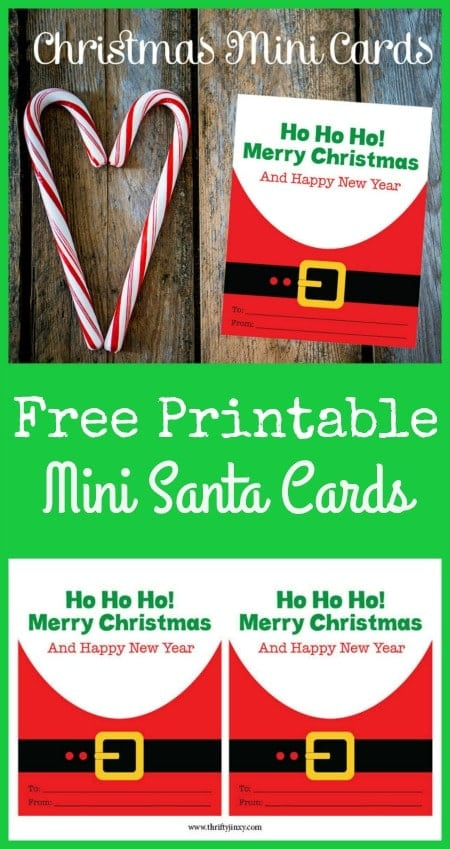 These Free Printable Mini Santa Cards are perfect for classroom exchanges, attaching to homemade treats or remembering service people at Christmas.