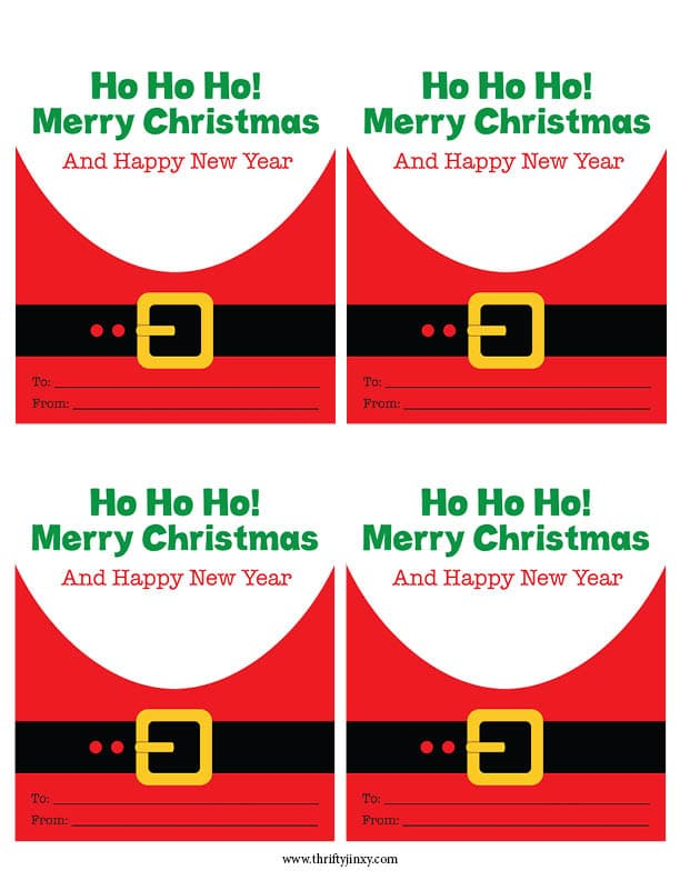 Free Printable Mini Santa Cards