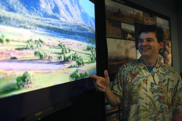 A press day for The Good Dinosaur, including presentations by Sets Supervisor David Munier, as seen on October 1, 2015 at Pixar Animation Studios in Emeryville, Calif. (Photo by Deborah Coleman / Pixar)