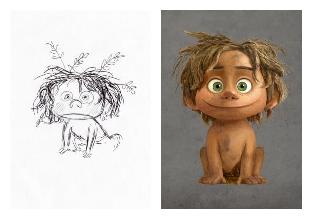 Character Design Notes Spot : Designing the world of good dinosaur and animating its